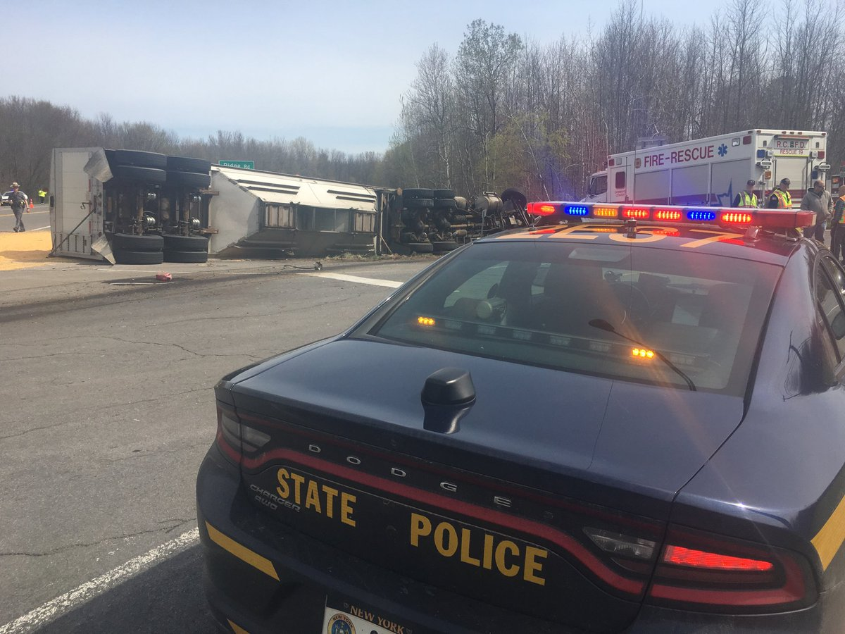 Pickup truck, tractor-trailer collide along Rt. 104; one person airlifted