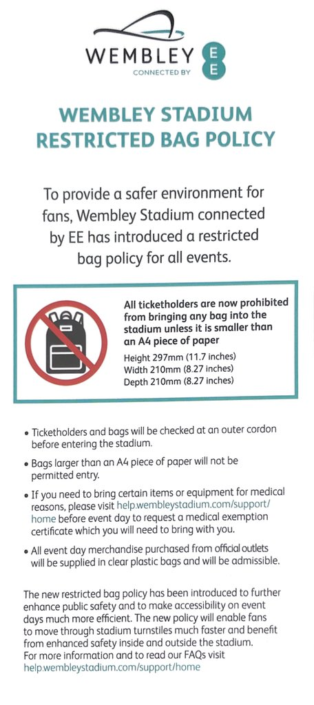 df0e6910b8 Make sure your bag fits within this policy for the concert! *Your bag does  not have to be clear for the concert* @BTS_twt #BTSxWembley #BTSinLondonPt2  #BTS ...