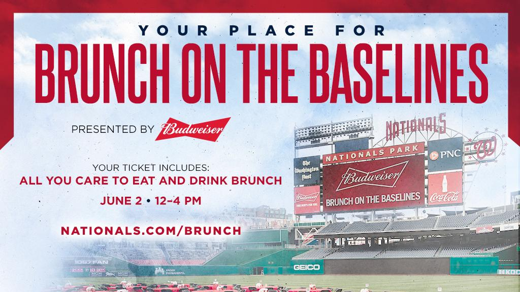 Brunch and baseball ... that's what DC does. // https://atmlb.com/2ZID6RV