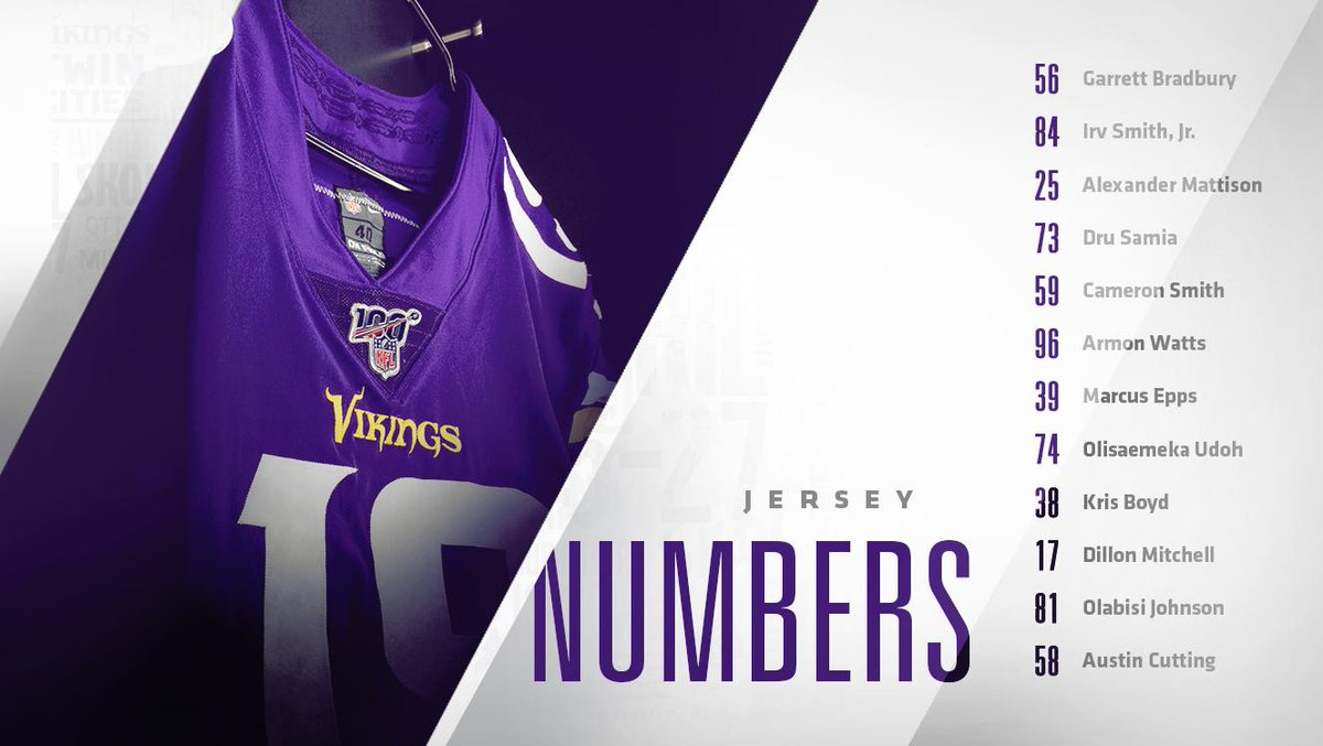 size 40 37982 e8a1f Irv Smith Jr. to wear No. 84 and other Vikings' rookies numbers
