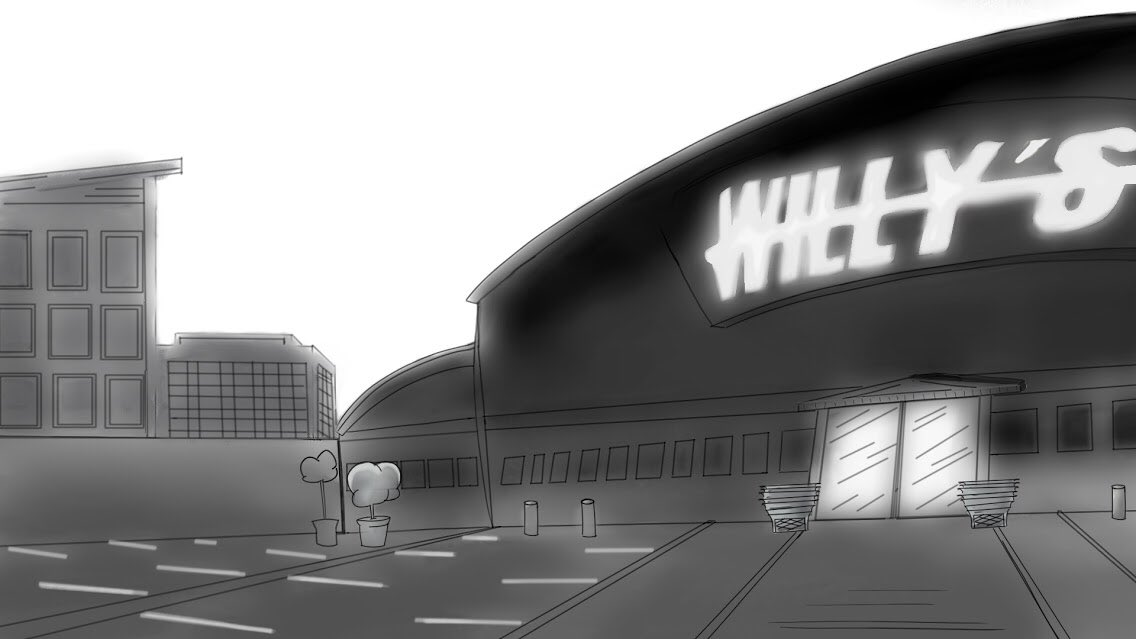 Welcome to Willy's!!!! #animation #background #freelanceanimator #illustration