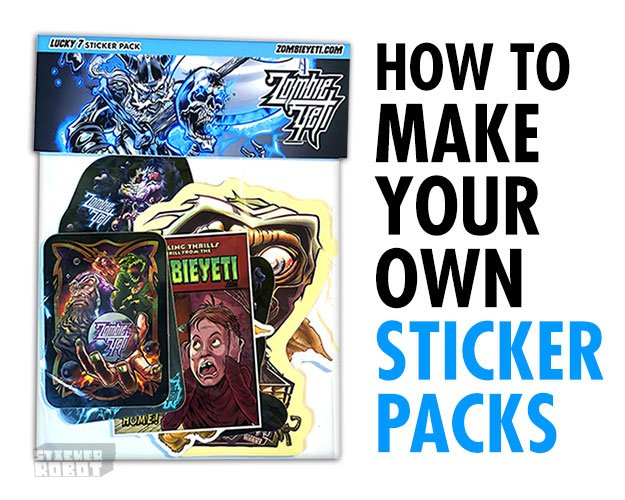 How to: Easy Home-Made Stickers Packs (And Giveaway!) by @zombieyeti --> stickerobot.com/blog/sticker-p…