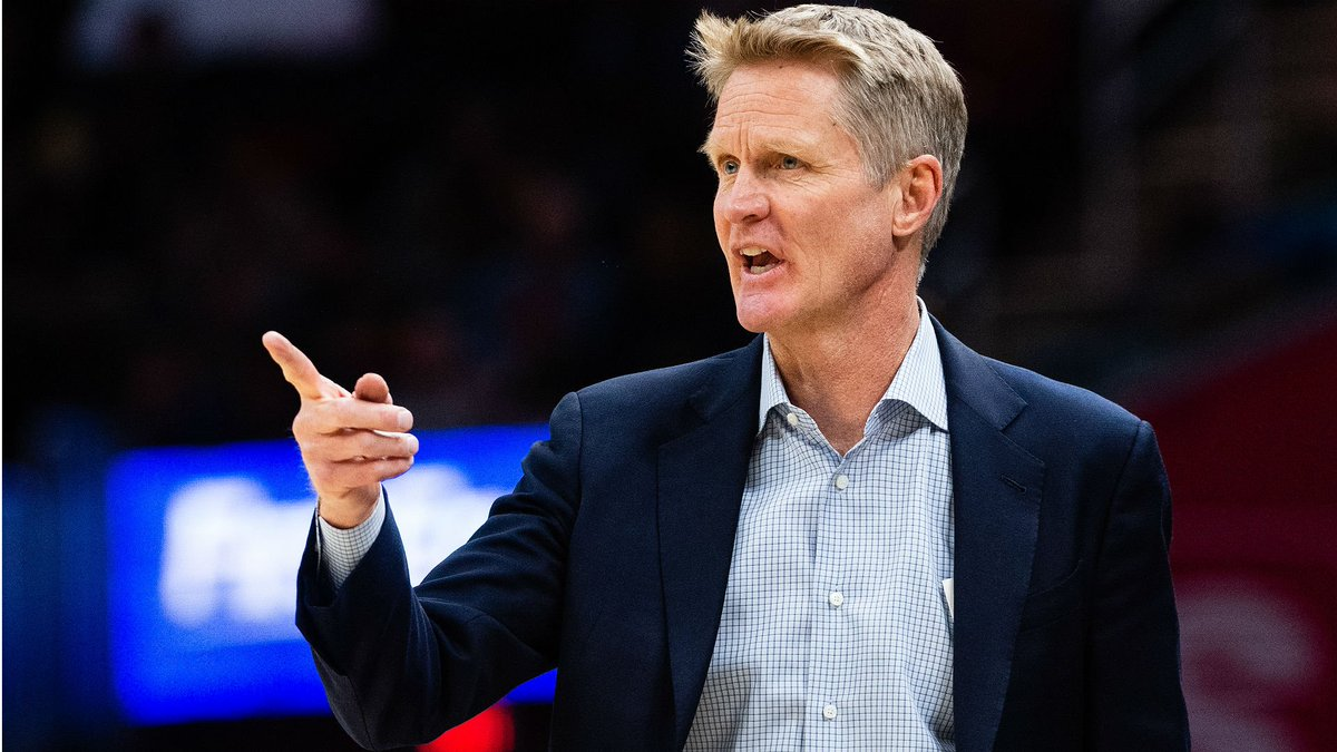 1870f66acd6 warriors steve kerr pretends to flop on reporter appears to call out james  harden