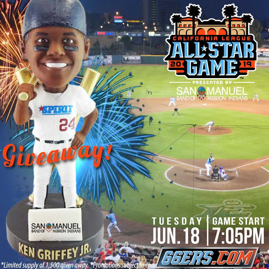 252a6e28cc ... we will be giving out this Ken Griffey Jr. All-Star Bobblehead!  #ASG2019 #FueledByFun #Bobblehead To purchase your tickets, visit our  website or the Box ...