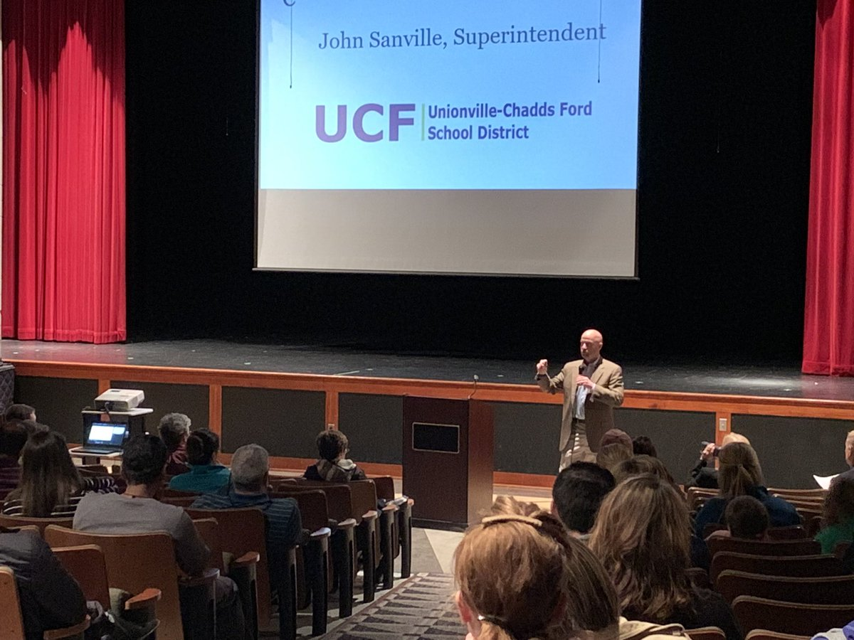 JohnSanville From @UCFSD Visits The #wcasd To Talk About Pushing Back School  Start Times.pic.twitter.com/IKmkdfuD7s