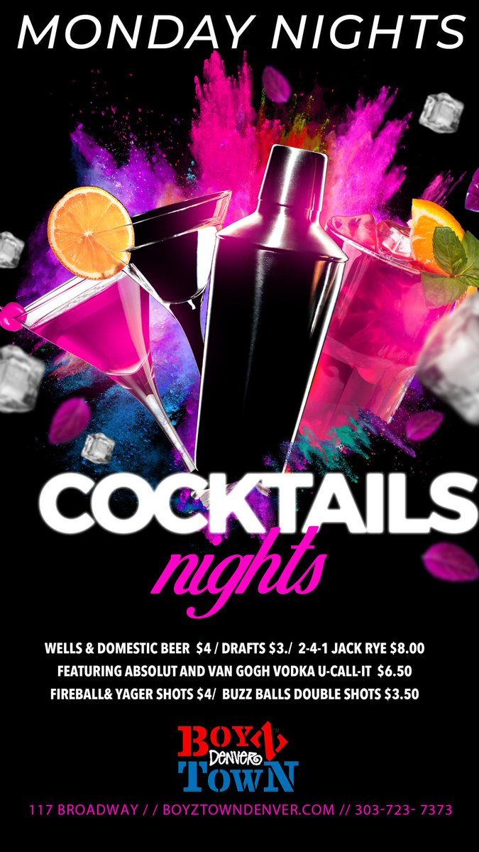 Don't let the snow get you down! It's time to have a cocktail party! Well and domestic drinks $2.75, $4 #fireball and buzzball #shots, $4.50 #jager shots, and $5 #tuaca shots! Show tomorrow at 10pm!