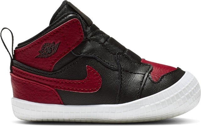 online store 44c00 cd304 air jordan 1 bred banned crib lifestyle shoe black white varsity red