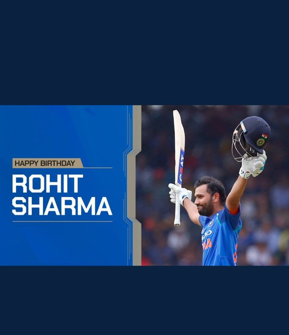 Happy birthday Rohit Sharma...sir Hitman of India
