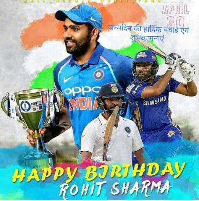 Happy birthday    Hitman  Rohit Sharma   Ipl king
