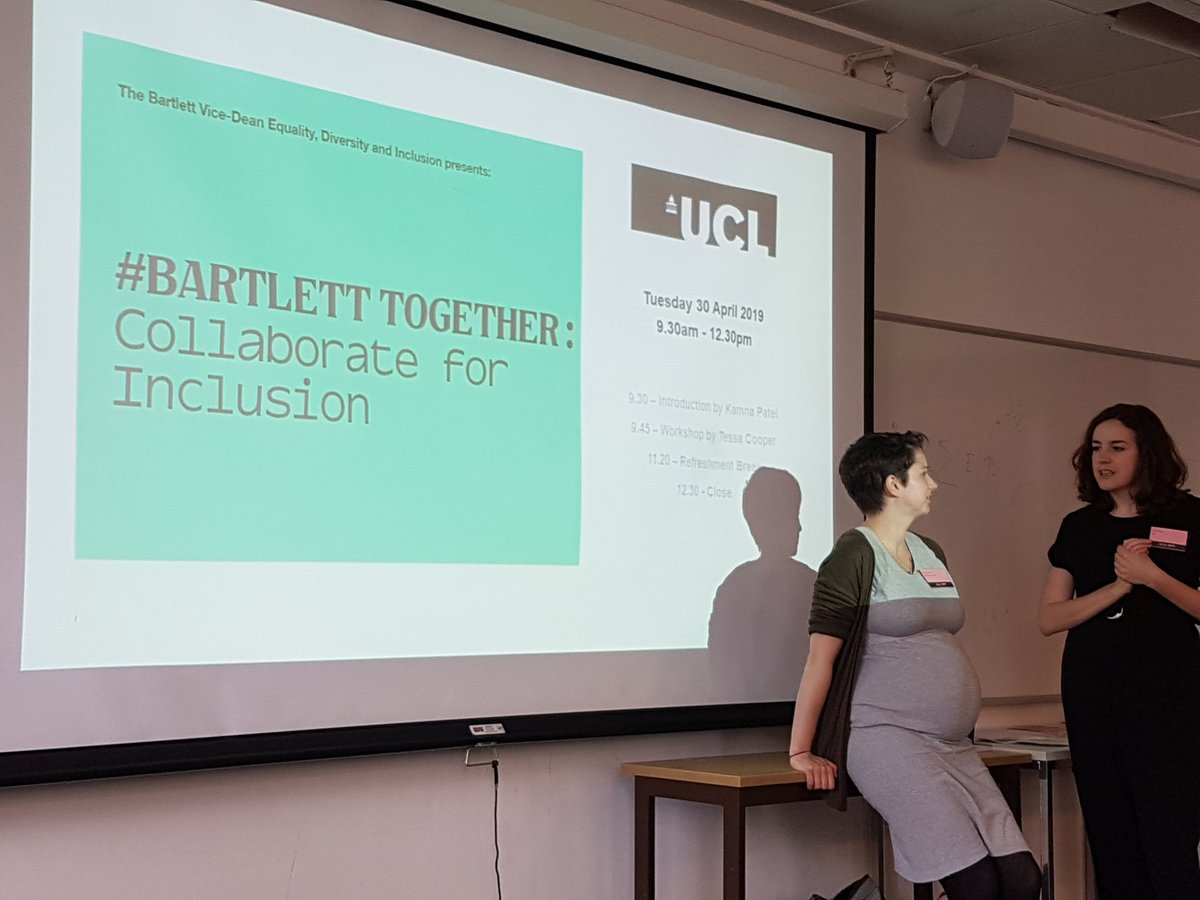 Getting ready for our workshop on AGILE and learning new ways to work for inclusion #bartletttogether