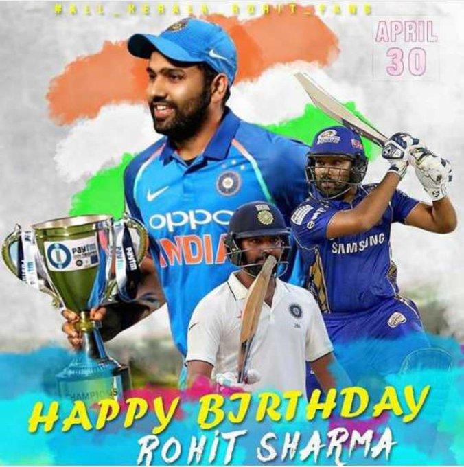 Meny meny happy returns of the day    Happy  birthday     Hitman Rohit Sharma sir