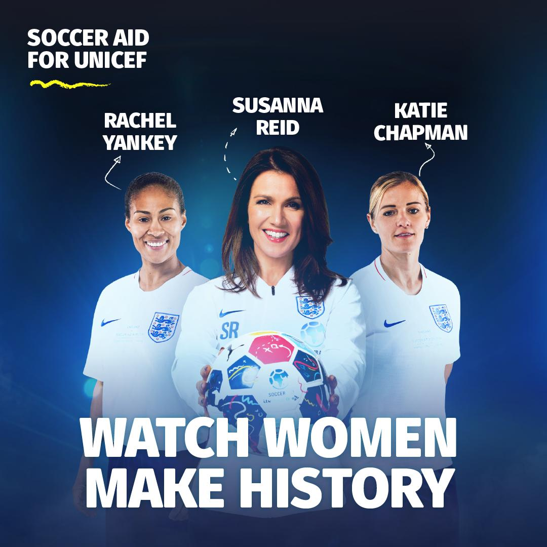 🏴󠁧󠁢󠁥󠁮󠁧󠁿🦁 @rachelyankey11, @susannareid100 and @chapmans17 are ready to join up with their teammates and take on the #SoccerAid World XI on 16 June at Stamford Bridge.   🎟 http://socceraid.org.uk/tickets