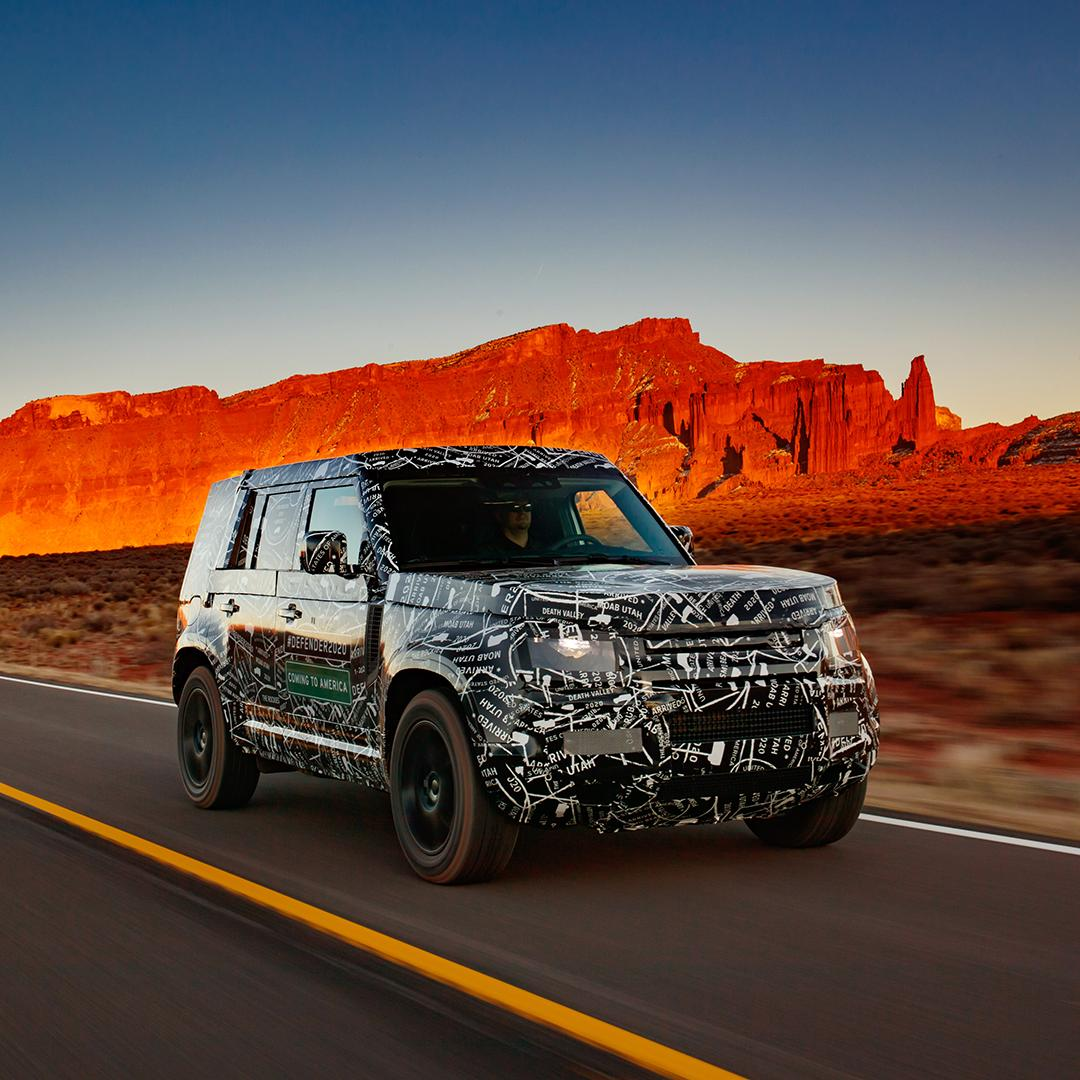 To celebrate #WorldLandRoverDay, we're sharing some of the first images of new #DEFENDER, in its test vehicle camouflage.   We have reached a development milestone by covering over 1.2 million km of rigorous all-terrain testing.  Register your interest: https://t.co/o9d2MCFplA https://t.co/LnJHWfTHOK