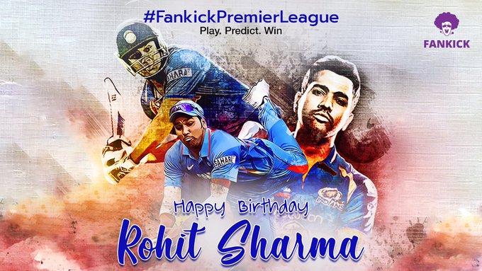 Happy Birthday Rohit Sharma!