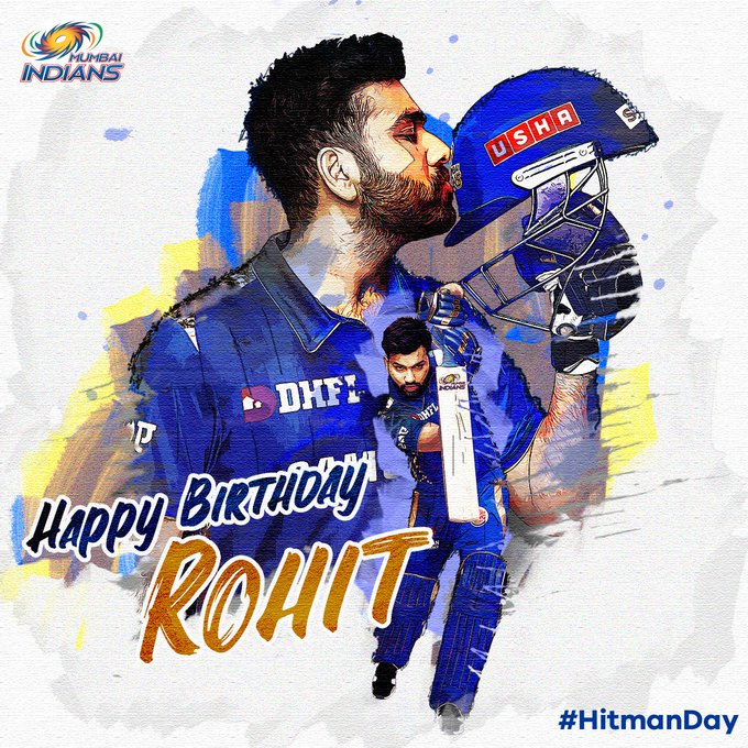 Happy birthday to you Hitman Rohit Sharma Love you Rohit....           Please hit century in next match