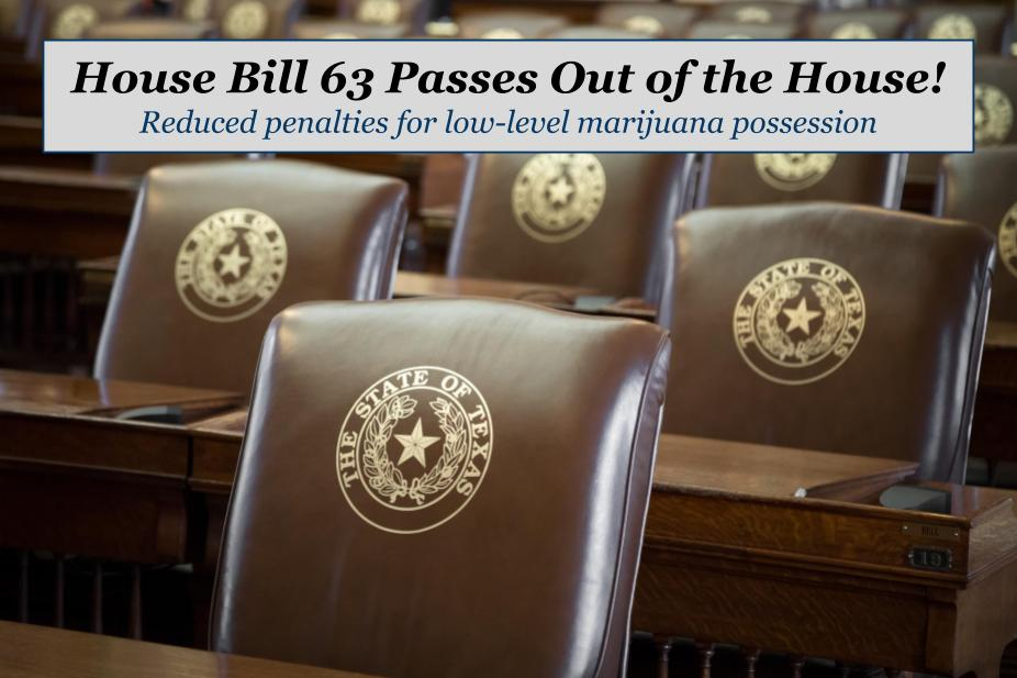 德州众议院通过法案 减轻对少量持有大麻的处罚