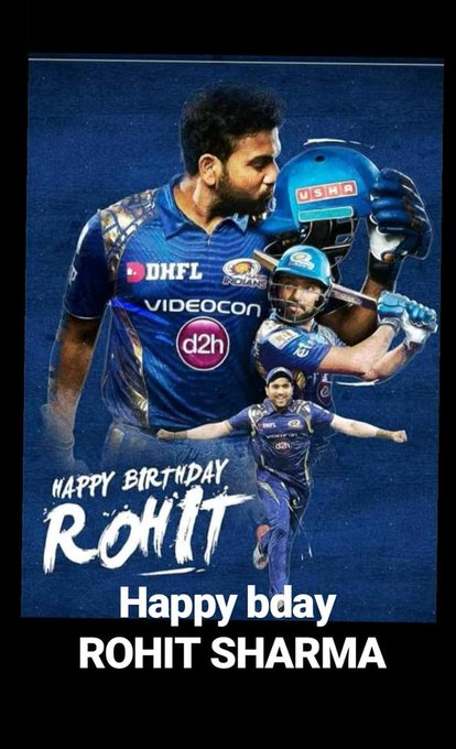 Happy bday THE HIT MAN Rohit sharma