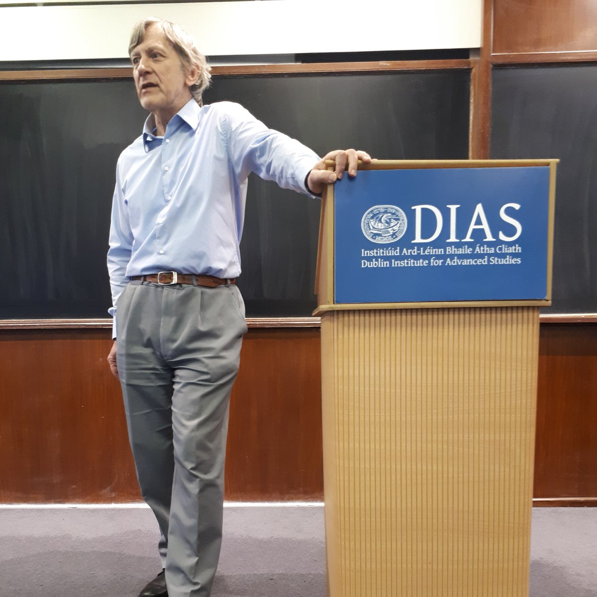 test Twitter Media - On Thursday, Werner Nahm had us 'thinking outside the box' at the fourth and final @DIAS_Dublin 'What is Life?' lecture series. The series commemorated the 75th anniversary of Erwin #Schrödinger's ground breaking series being published as a book. #DIASdiscovers https://t.co/DQINUAGq5T