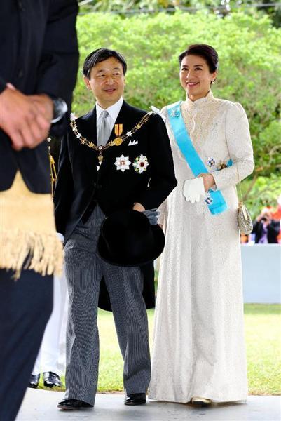 雅子さまのお召し物はトンガの時のドレスと思われまする私このドレス一番好き雅子さまによくお似合い https//t.co/qEigjP0YCs