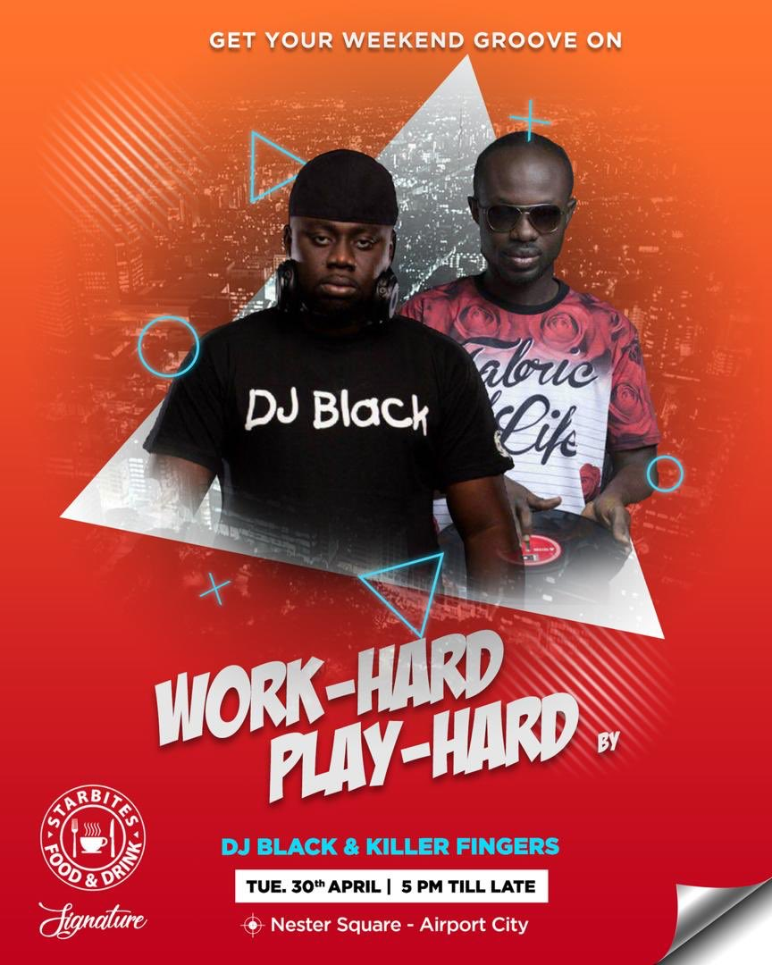 Wondering where to be this weekend? Let @Starbitesgh and @djblack host you to a groovy session.... #NestarSquare #StarbitesGh #WeekendGroove https://t.co/6aBqrmOdFT