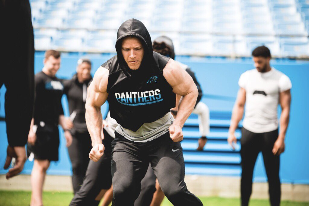 NFL Star Christian McCaffrey's Jacked Arms Are Paying Off