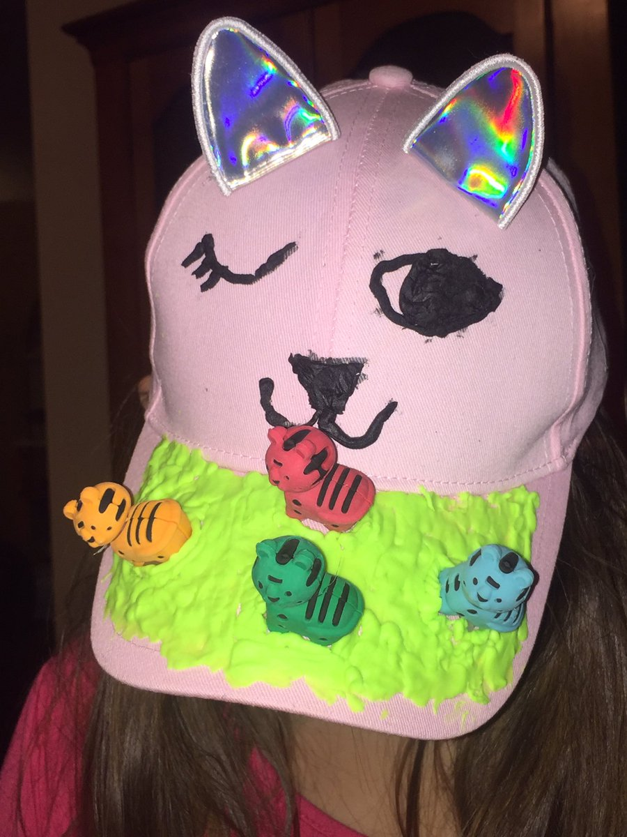 """Zoey is over the moon excited about her """"Purrby"""" hat for the contest !!! Here it is in all of its kitty glory 😻@purrfectdaycafe #AdoptDontShop #furreverhome #bestcafeintown #Caturdayfavoriteday #creativeZo"""