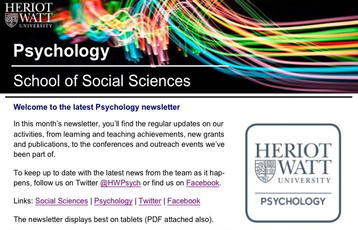 Heriot-Watt Psychology (@HWPsych) | Twitter