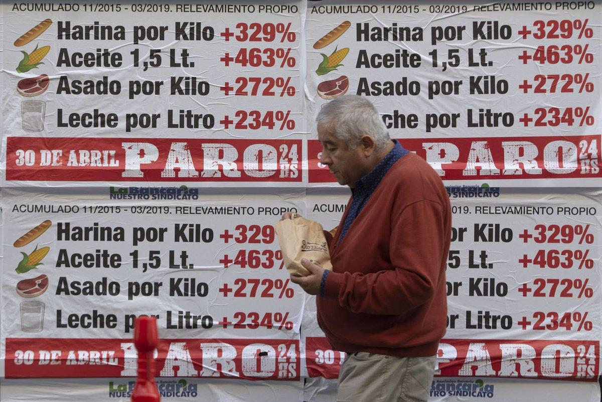 Sindicatos opositores paran en contra del gobierno de Macri