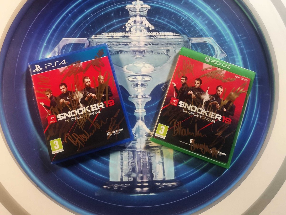 COMPETITION TIMEWin a signed copy of #Snooker19 on PS4 or Xbox One! Signed by a selection of the Top 16 snooker players from the @WorldSnooker tour including Neil Robertson & Mark Selby. Like & RT for the chance to win! T&C's here: https://buff.ly/2LaVRKz