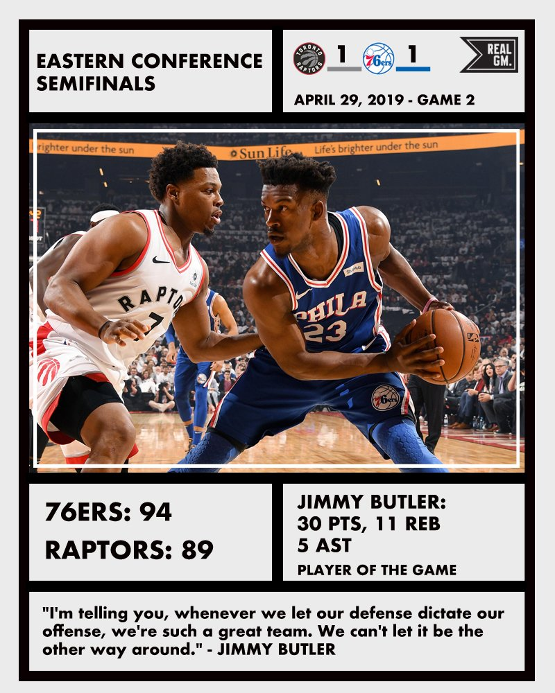 NBA Playoffs Snapshots (April 29): 76ers/Raptors, Nuggets