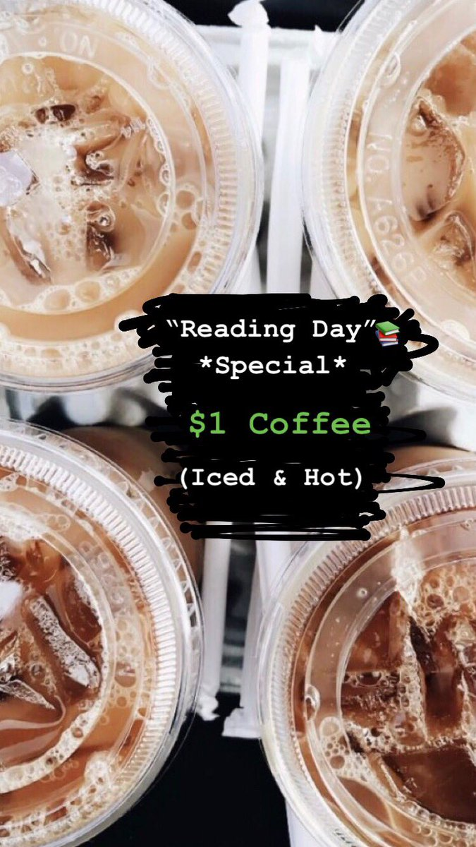 Whether you're actually studying or just hungover. Or both. We got you. This special is exclusive to @monmouthu students and faculty. #readingday