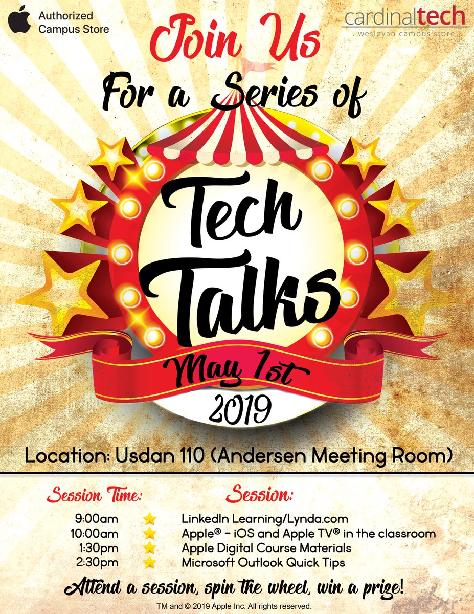 test Twitter Media - Come to Usdan on 5/1 to learn about LinkedIn Learning, Apple TV, Outlook tips and more... details at https://t.co/O6CohrLROJ @wesleyan_u https://t.co/UuZ7wXJTMy