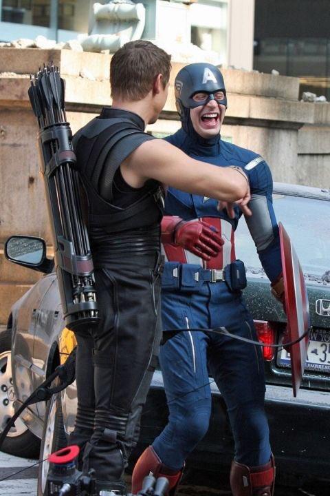 キャプテン・アメリカ姿のクリス・エヴァンス君の笑い方はいつ見ても最高の気分にさせてくれる