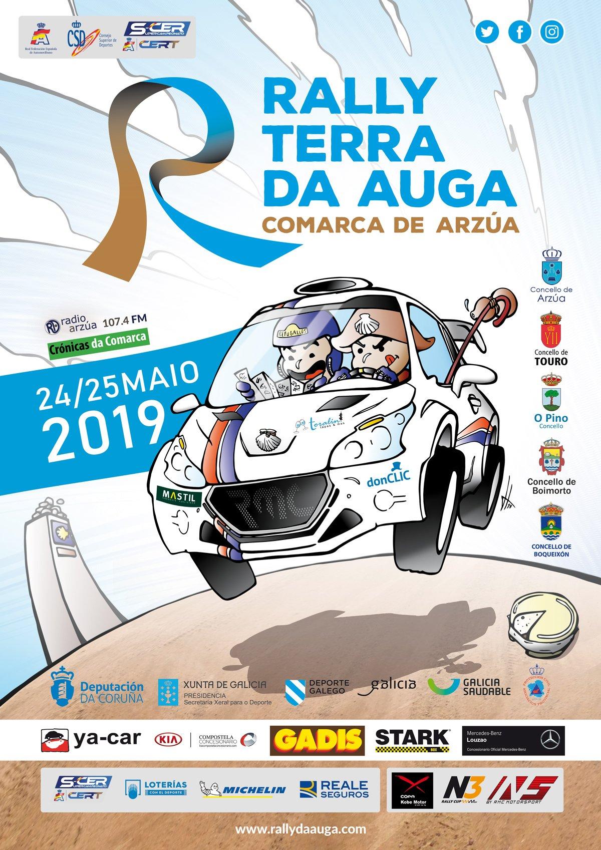SCER + CERT: Rallye Terra da Auga - Comarca de Arzúa [24-25 Mayo] D5_A1ZUWsAA_0ET