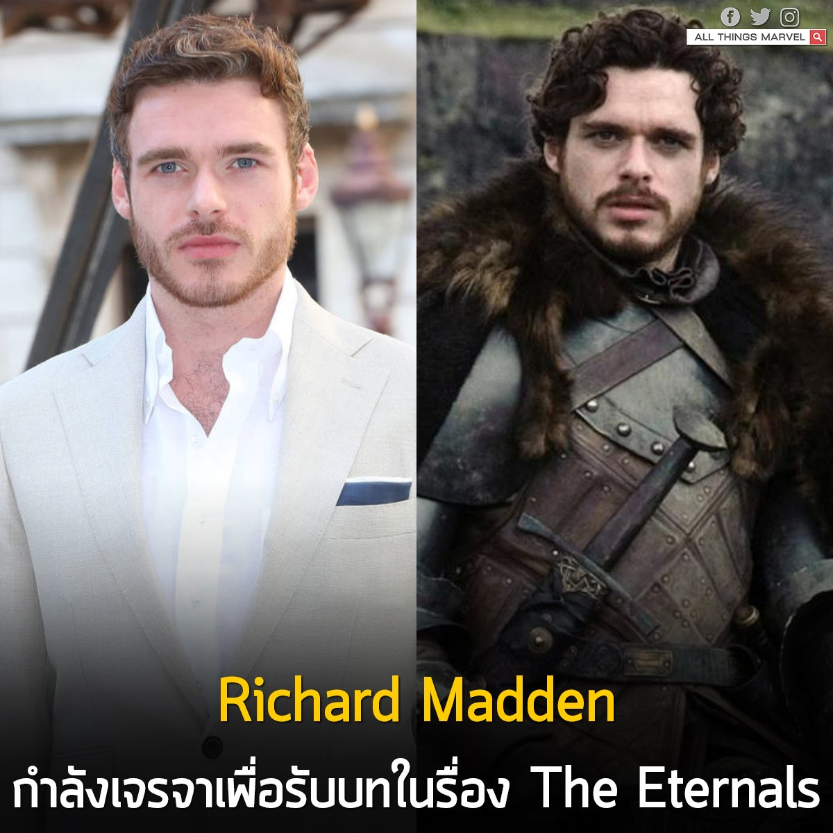 All Things Marvel's photo on Richard Madden