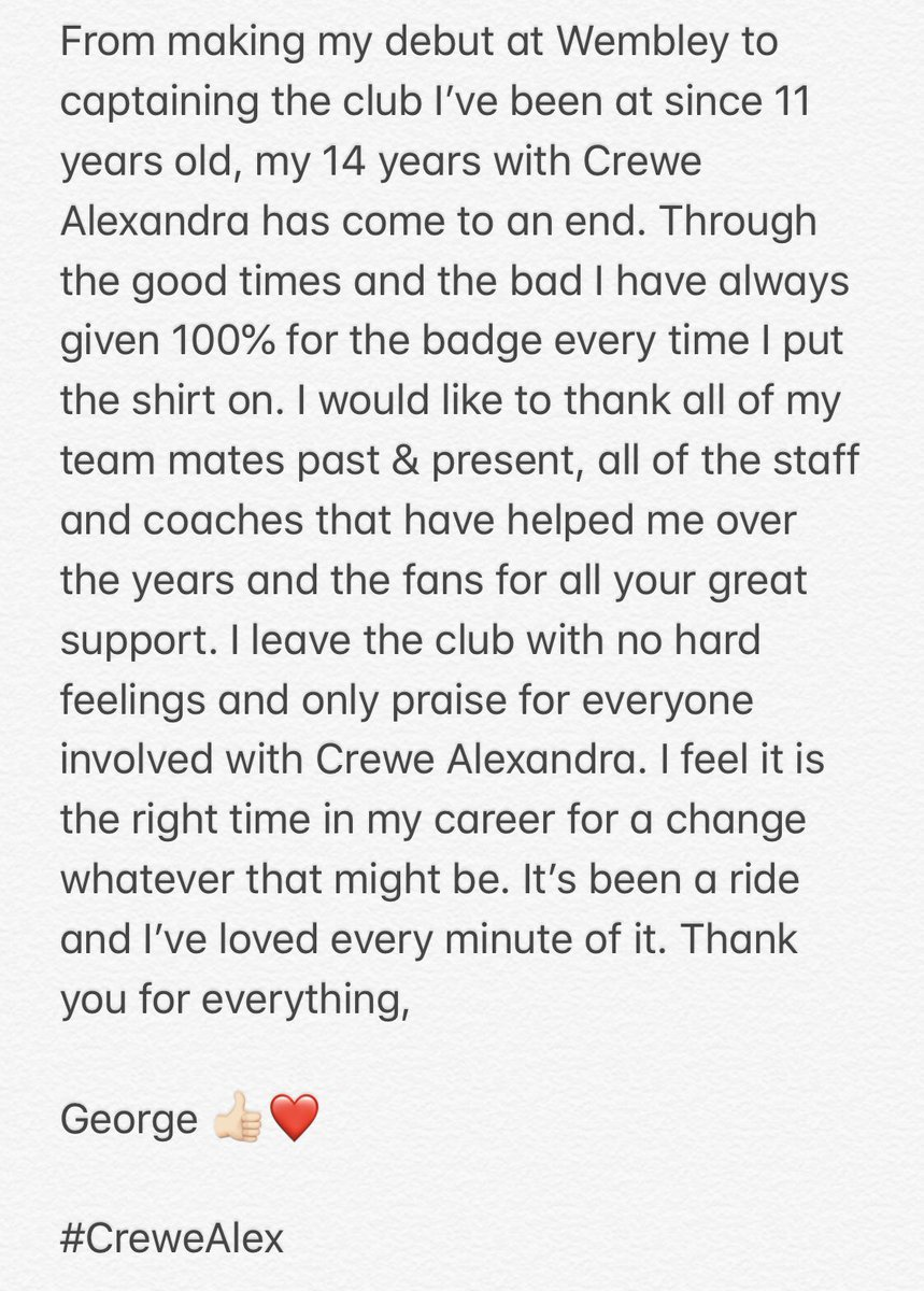 Thank you for everything ❤️ @crewealexfc #CreweAlex https://t.co/w2UySpMnhr