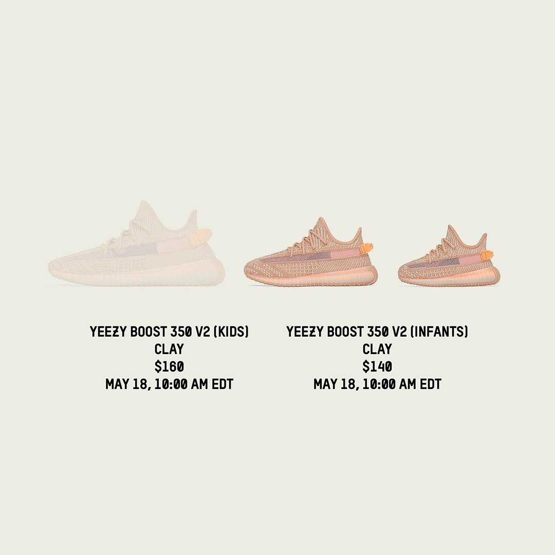 Clay Yeezy Boost 350 V2 is restocking