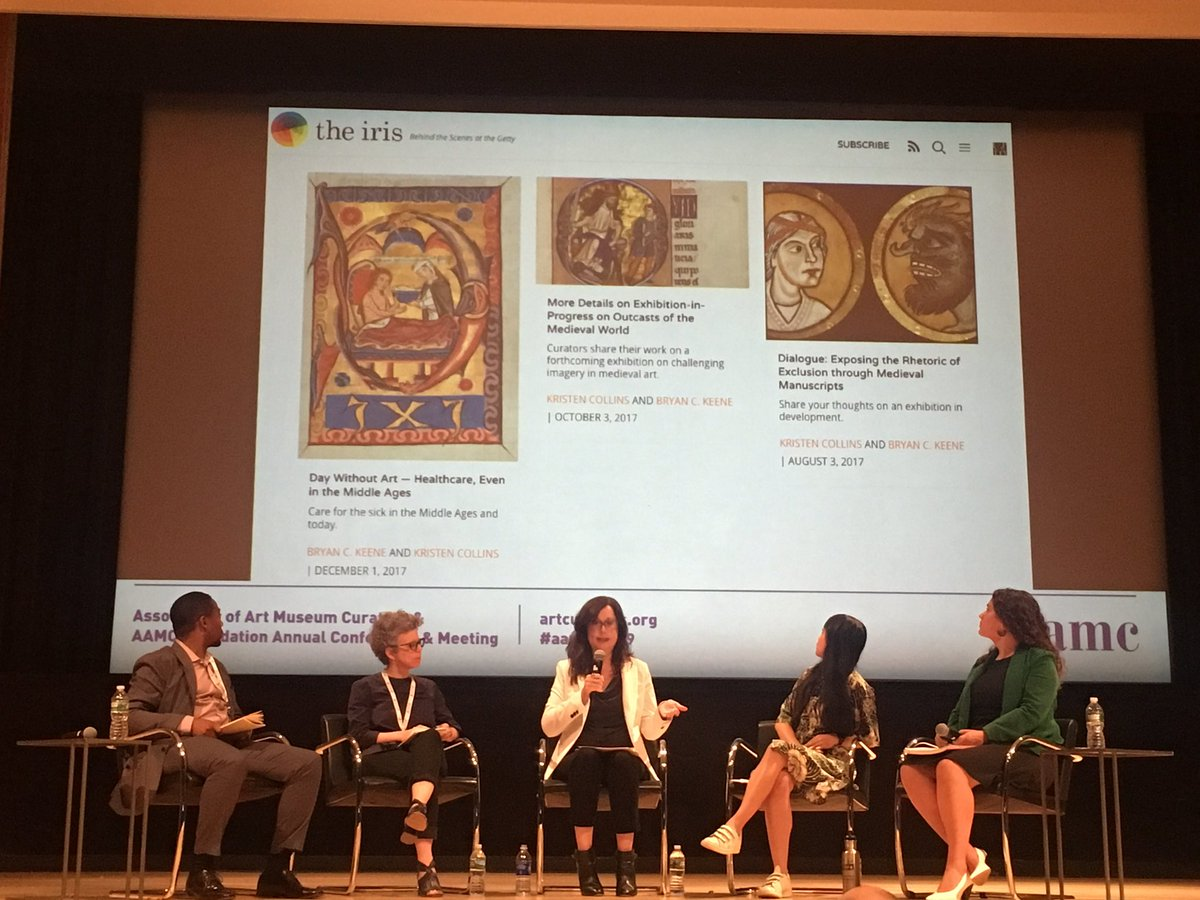 Kristen Collins, Curator or Manuscripts, @GettyMuseum uses her experience curating #Outcasts with co-curator #BryanKeene to examine prejudicial rhetoric & the impact of #publicengagement on their working methods now and moving forward. #curatorialpractice #aamcnyc19