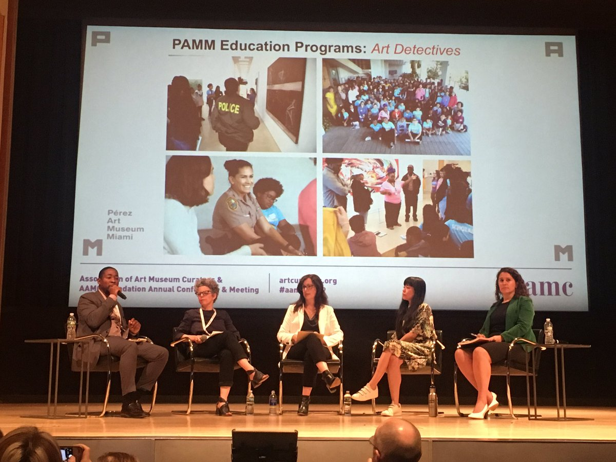 @mfsirmans Executive Director, @pamm gives overview of programs and initiatives to serve #Miami audience - 50% born somewhere else and 70% speak a language other than English #studentpass #artdetectives #localviews #aamcnyc19