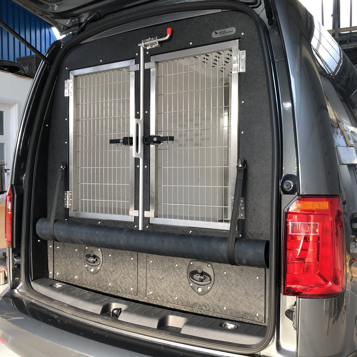 Animal Transit Boxes On Twitter Vw Caddy Custom Built Dog Vehicle Conversion Complete With Vehicle Storage Drawers Rear Escape Hatches Removable Divider And Stainless Steel Key Lockable Doors Animaltransitboxes Dogvan Dogvehicle Dogtransit