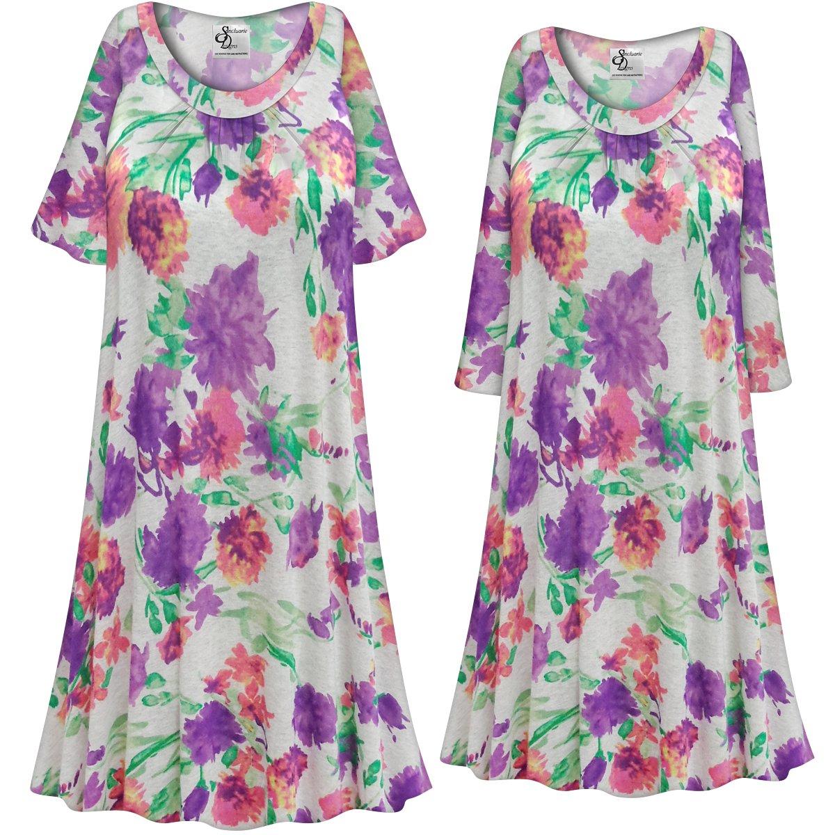 53c6a968b2a9a Customizable Plus Size LIGHT WEIGHT Pretty in Purple Floral Print Sleep  Gown - Muumuu - Moo Moo Dress 0x 1x 2x 3x 4x 5x 6x 7x 8x 9x. ...