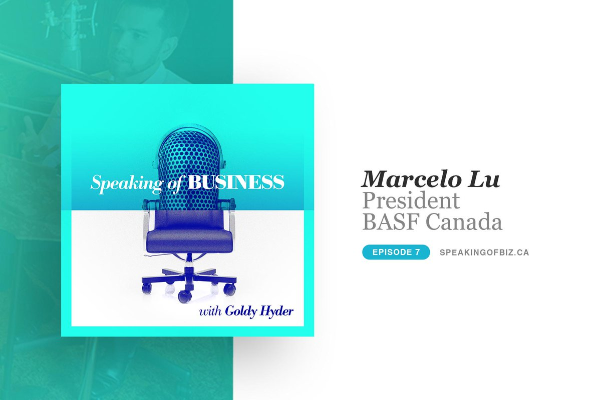 Born in Brazil, roots in China, educated in the US, work experience in Europe and Asia: @MarceloRochaLu1 brings an international perspective to his role with @BASFCanada and offers great insight into Canada's potential on the global stage. Listen now: http://www.speakingofbiz.ca/marcelo-lu/