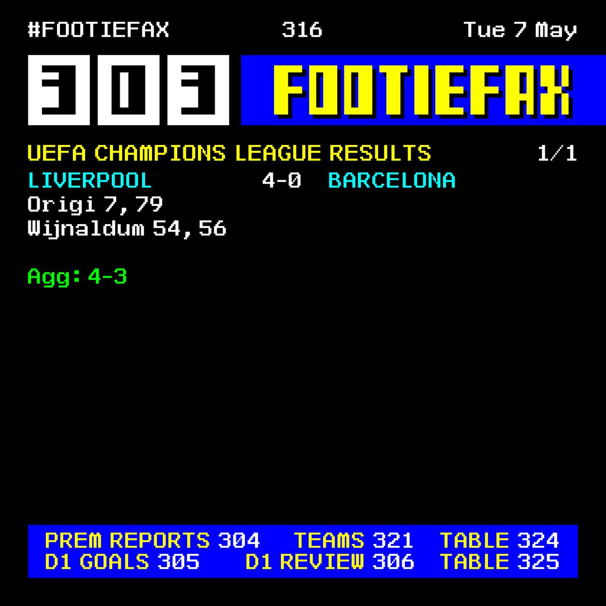 Footiefax On Twitter Tonight S Uefa Champions League Result