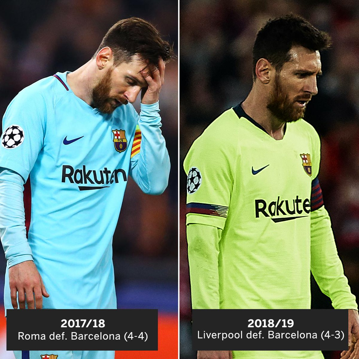 For the second straight year, Barcelona blow a big lead in the Champions League.