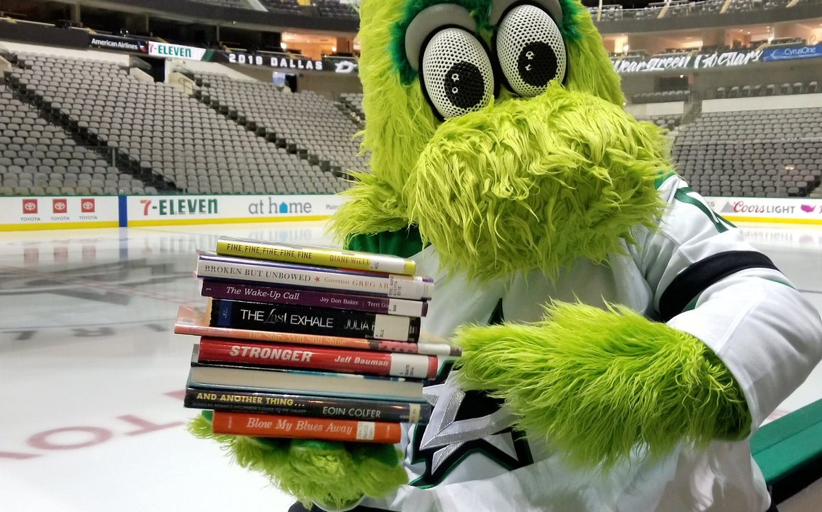 @STLpubLibrary @StLouisBlues @DallasStars @VictorEGreen @DtownDallasInc @ReunionTower @LouieSTLBlues @Benbishop30 @Enterprise_Cntr @downtownstlouis Good afternoon @STLpubLibrary! Thanks for asking, yes all our @DallasStars are feeling great and ready for Game 7! Right @VictorEGreen? @StLouisBlues #GoStars #BookSpineChallenge #NHLPlayoffs