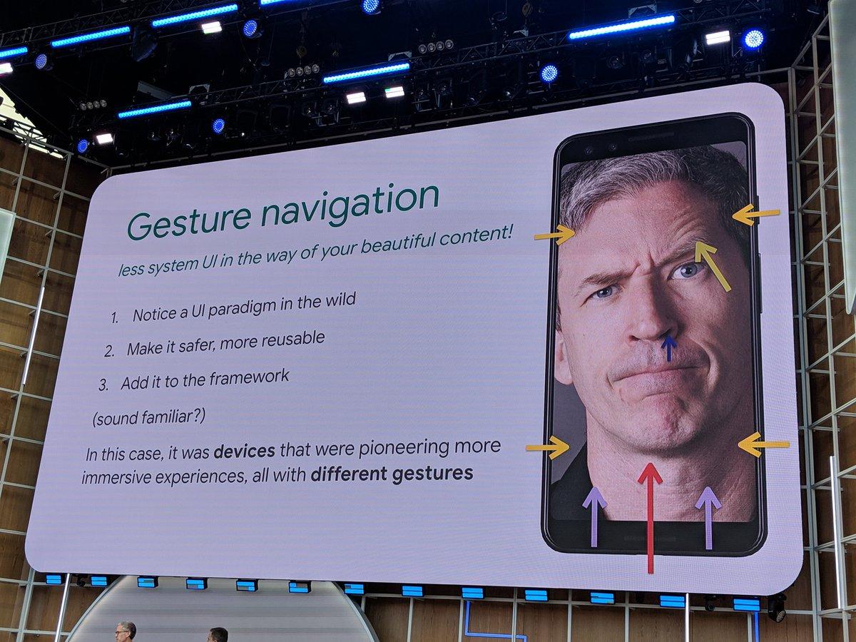 New gesture navigation poking @chethaase #io19