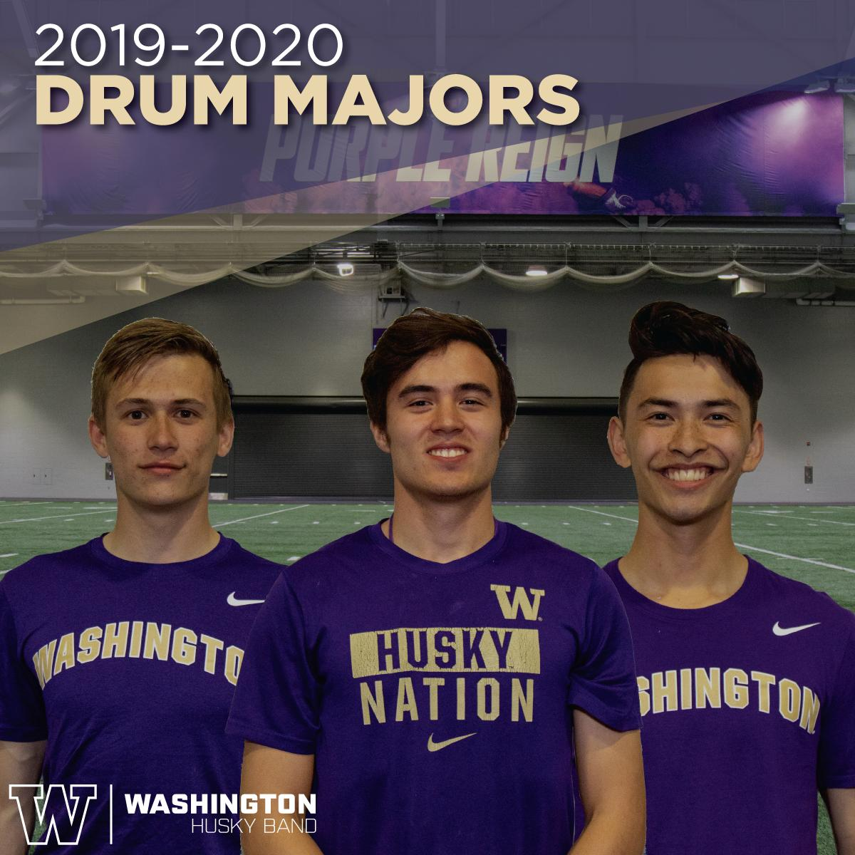 38f78ea9 We are pleased to announce our 2019-2020 Drum Majors. They are Alexander  Aanesen from South Kitsap High School, Denali Cornwell from Ballard High  School and ...