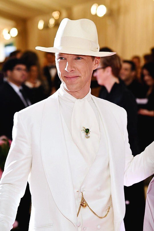 Doug Dimmadome arriving at the Met Gala (2019)
