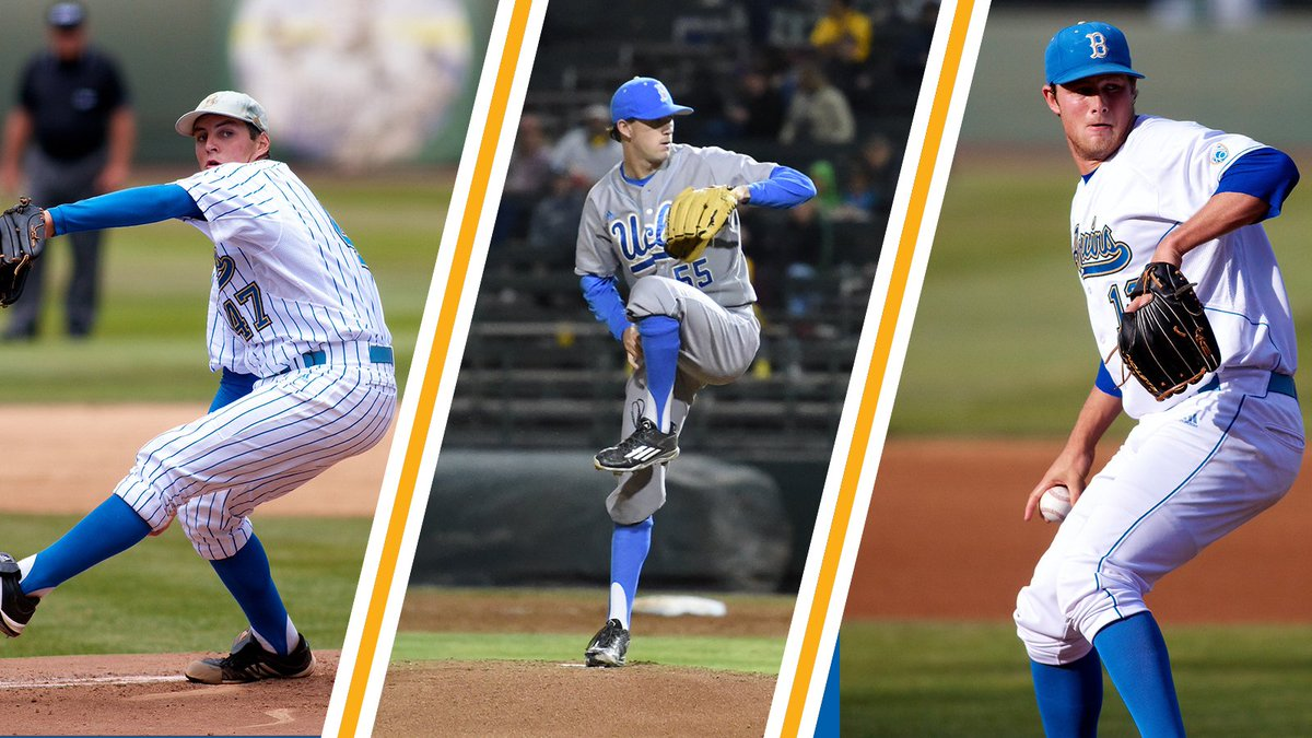 fca5c4ed721f6 That makes today the first time in history that UCLA has had three MLB  starting pitchers competing on the same day. READ
