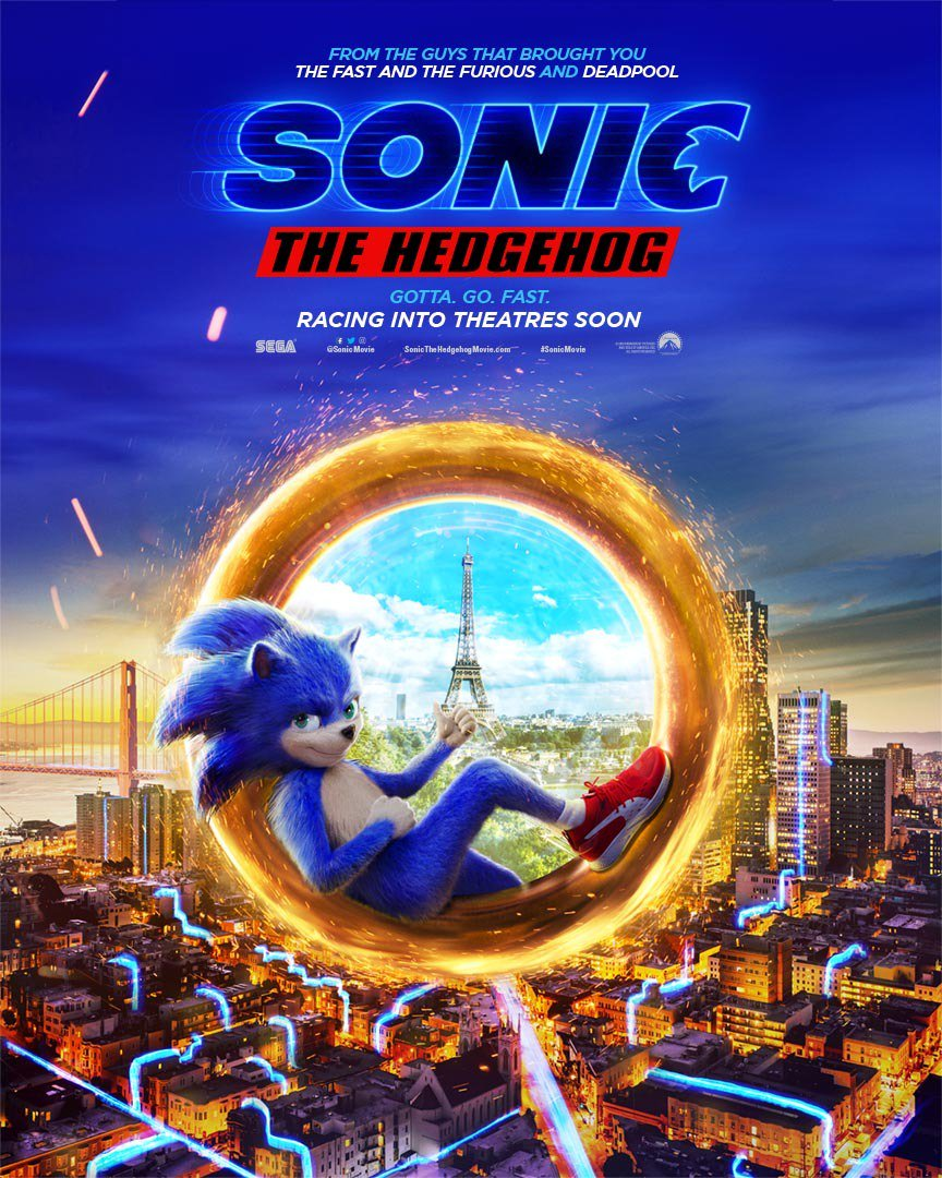 Paramount Trinidad On Twitter Gotta Go Fast Check Out The New Poster For Sonic The Hedgehog In Theatres This November Watch The New Trailer Now Https T Co Ywfnowvnqf Https T Co Sjnntbrljh